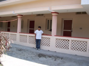 The almost finished new orphanage, adjacent to the original building.
